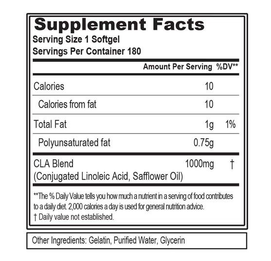 supplement fact cla phd